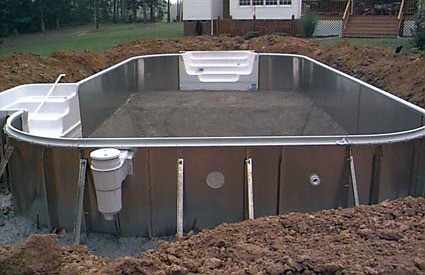 Cost to install an inground pool estimates prices - Building a swimming pool yourself ...